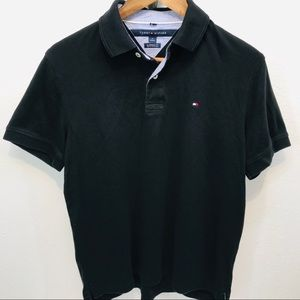 Tommy Hilfiger - Black Polo - Men's size Medium